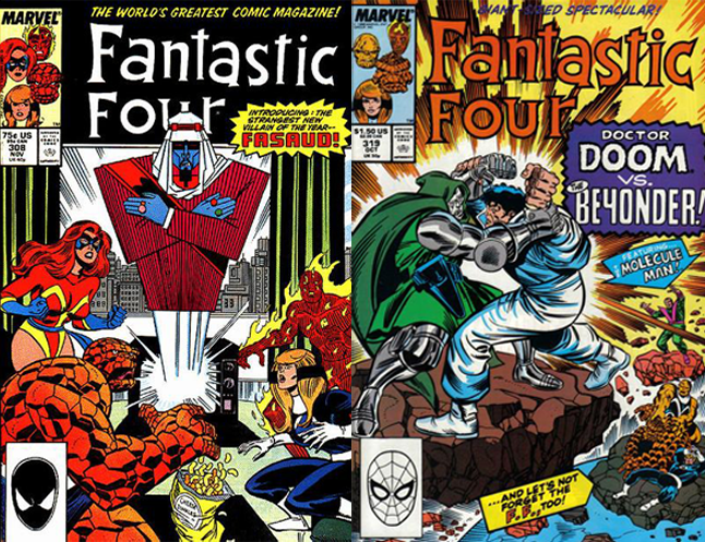 Steve Englehart's run - not really collected yet. (FF 304-325, Annuals 20-21)